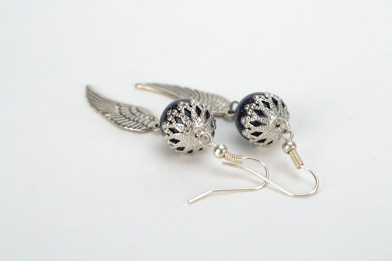 Earrings with aventurine Angel wings photo 4