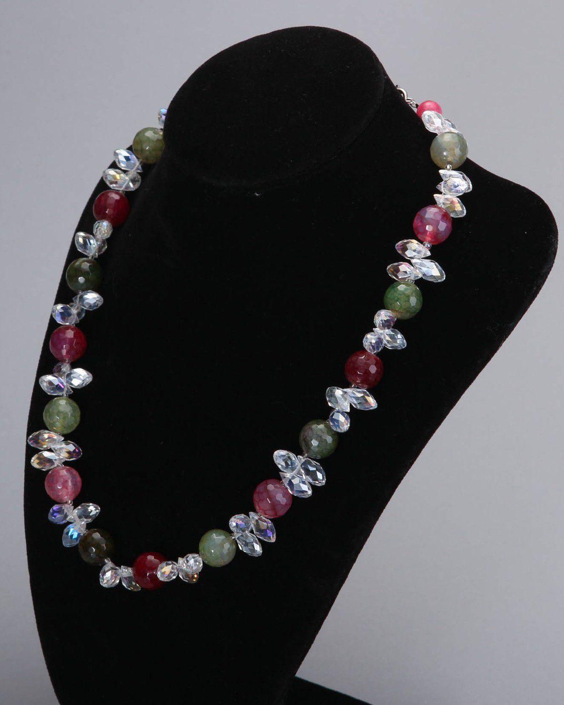 bd0eaf7c86eb collares de piedras naturales Collar de cristal y ágata de diferentes  colores - MADEheart.com