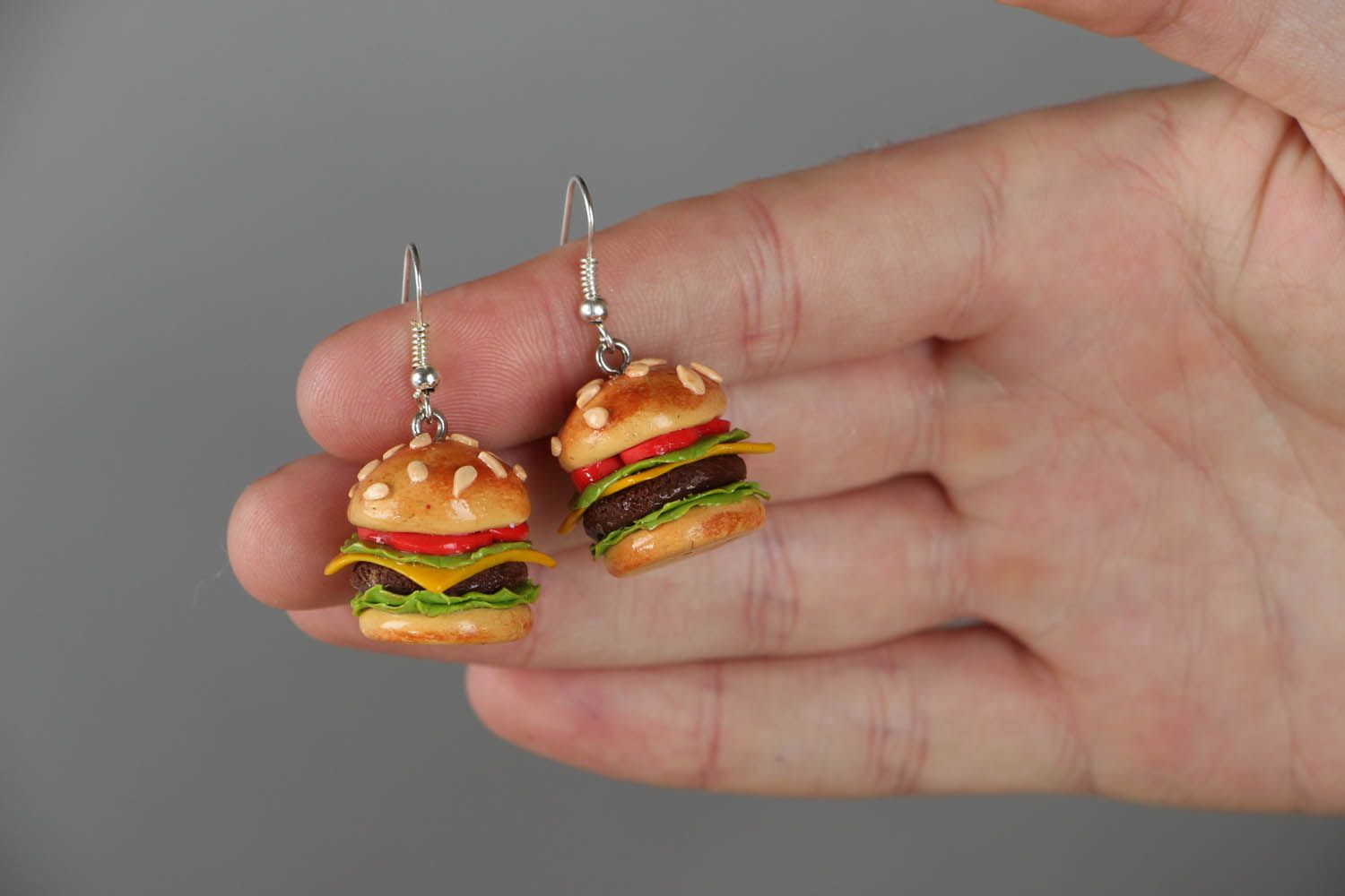 Cute polymer clay earrings  photo 4