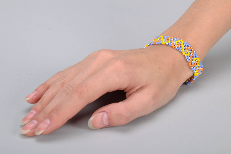 Zartes Armband aus Glasperlen foto 5