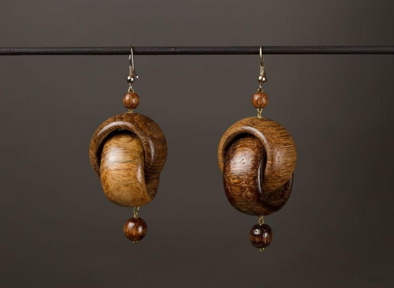 Wooden Earrings photo 1