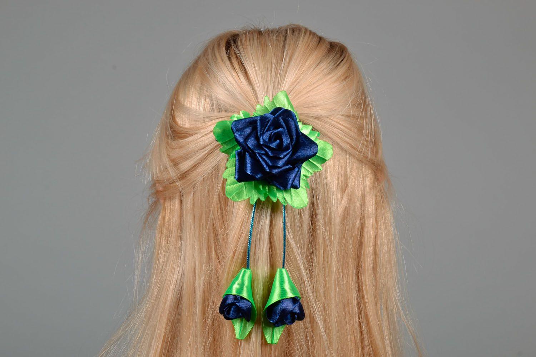 Hair clip Blue Rose photo 1