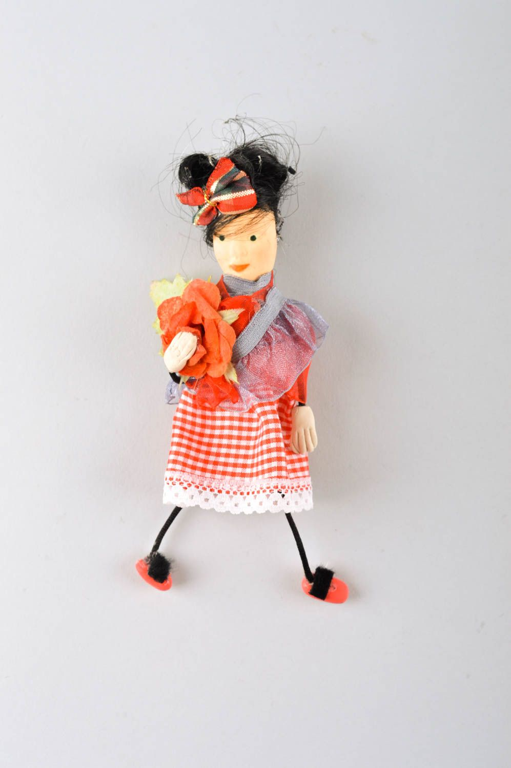 Beautiful handmade fabric toy rag doll collectible dolls decorative use only photo 2