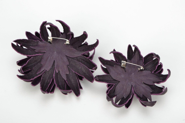 Broschen Set Granat in Violett foto 5