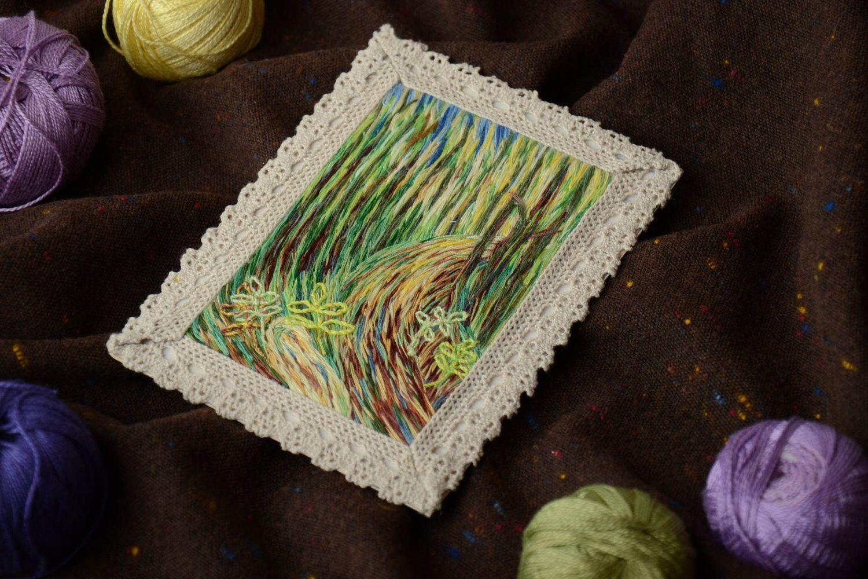 Satin stitch embroidered fridge magnet-picture photo 1