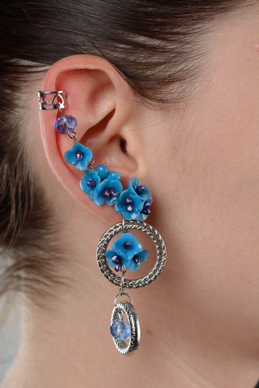 Ear cuffs Blue Cloud photo 3
