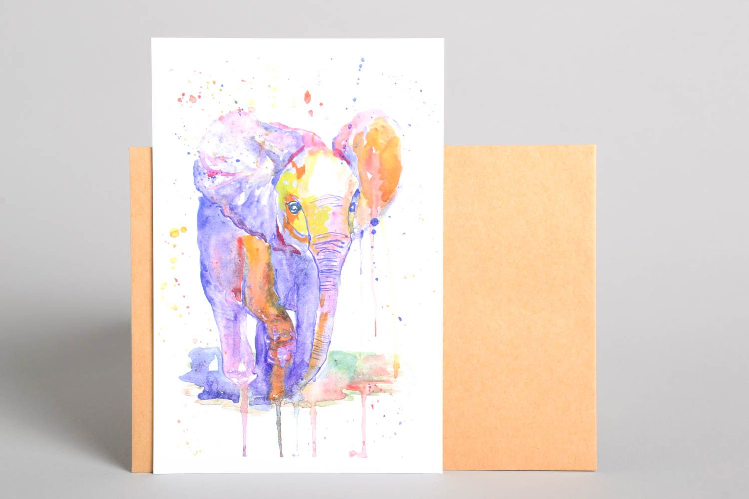 Collectible post cards watercolor post card handmade post card gift for friend photo 2