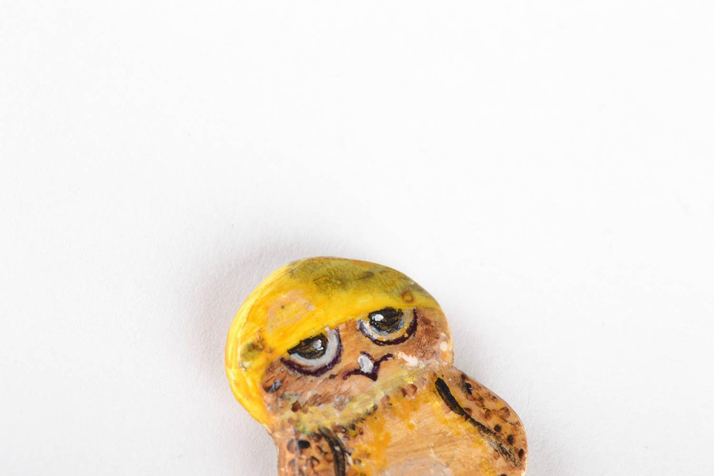 Homemade fridge magnet in the shape of owl photo 4