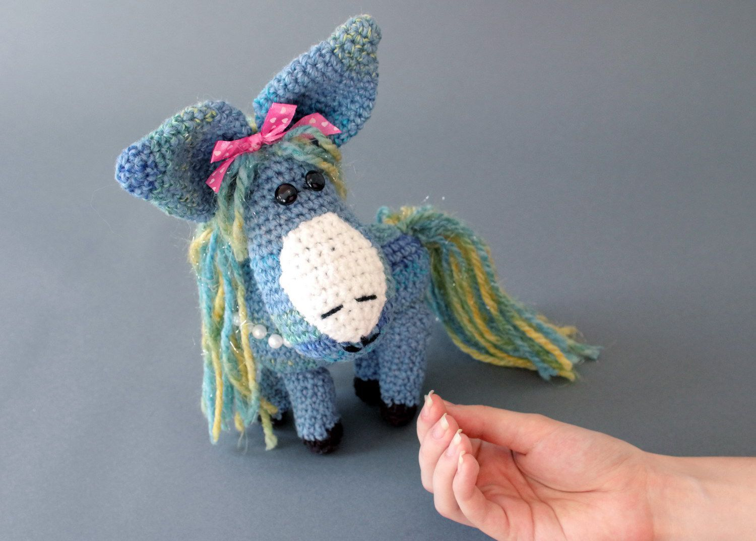 Soft toy Blue horse photo 2