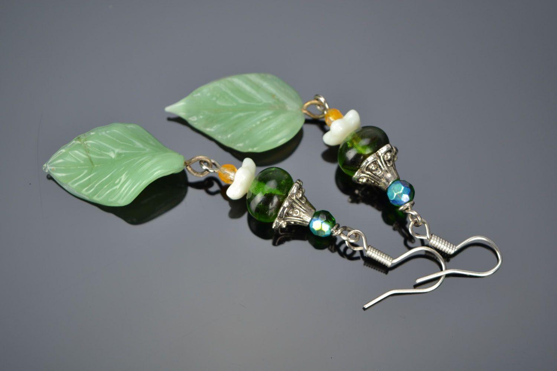 Lampwork glass earrings photo 1