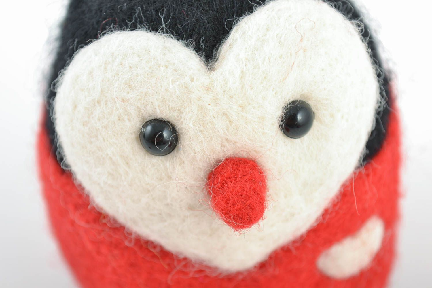figures and figurines Beautiful homemade collectible felted wool toy for home decor Penguin - MADEheart.com