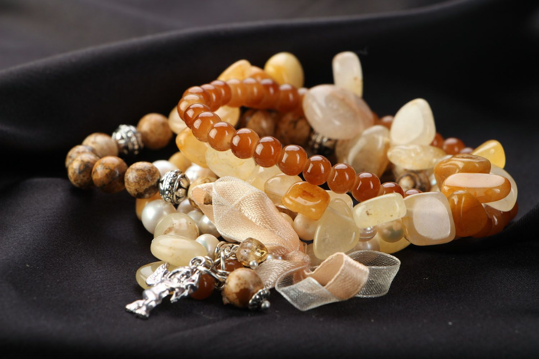 Naturstein Armband Set foto 2