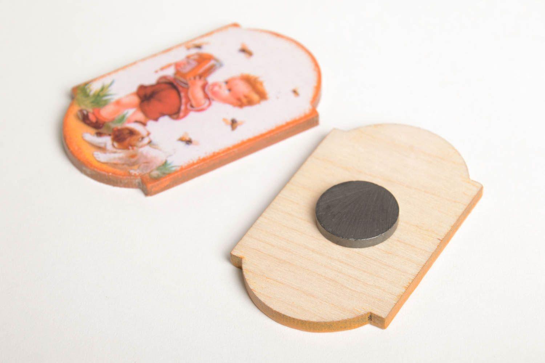 Decoupage fridge magnet stylish handmade kitchen decor decorative use only photo 3