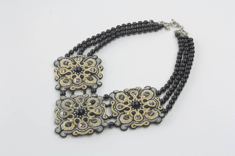 Ожерелье в сутажной технике фото 4