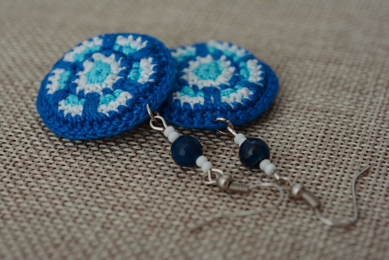 Stylish crochet earrings photo 2