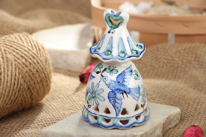 Beautiful painted ceramic bell photo 5