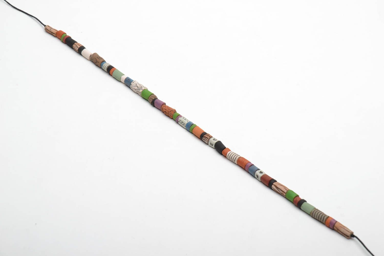 Colorful ceramic bead necklace photo 3