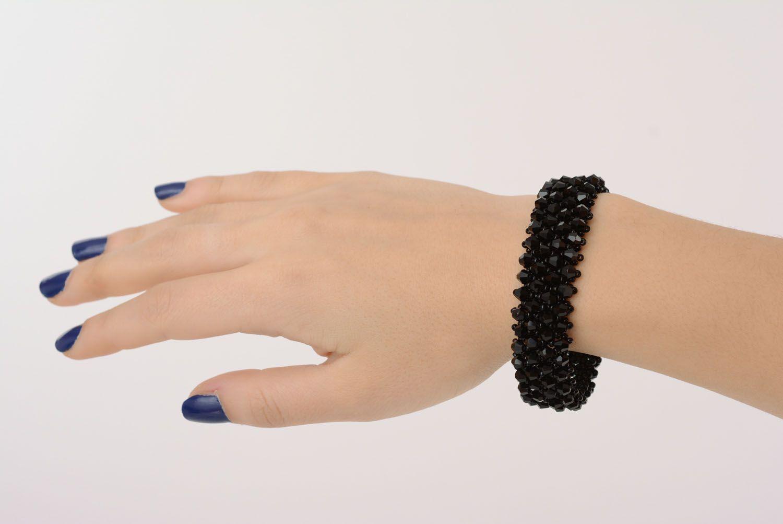 Wide black bracelet photo 4