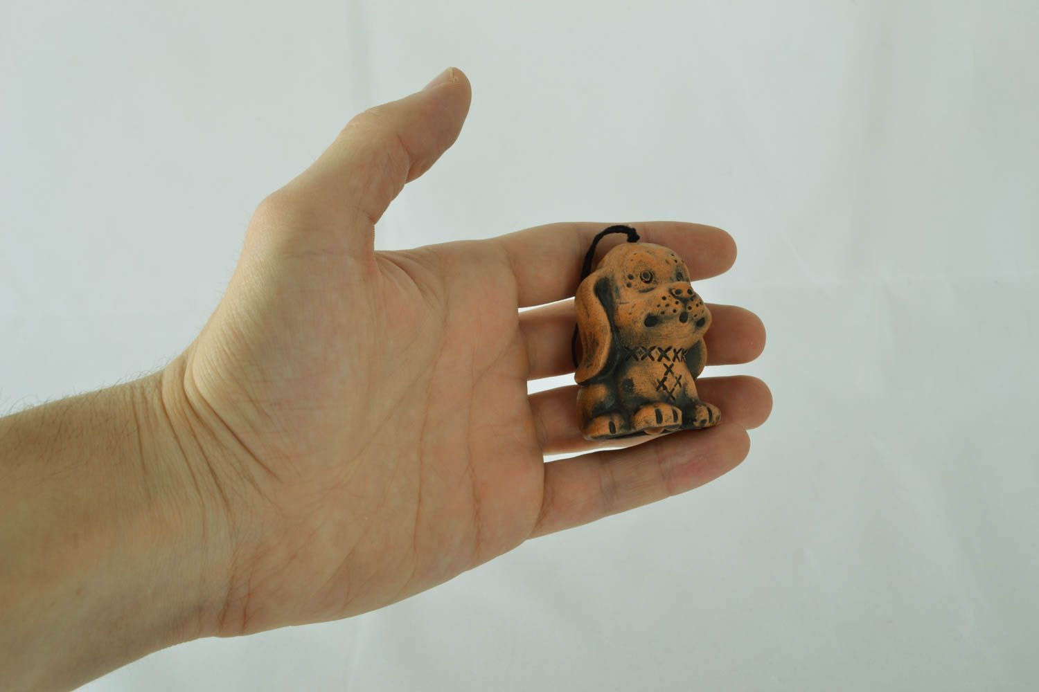 Designer ceramic bell in the shape of puppy photo 3