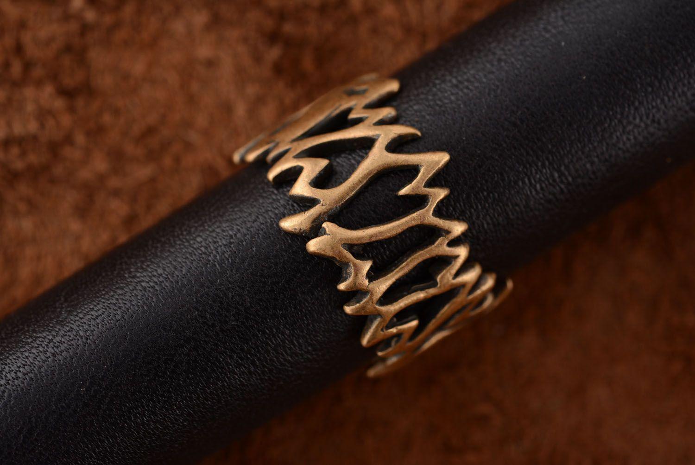 Необычное кольцо из бронзы  фото 3