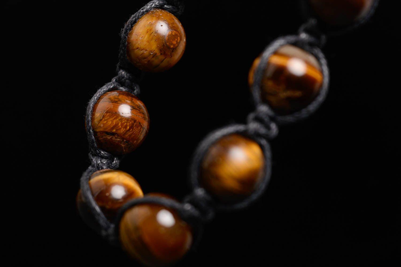Geflochtenes Armband aus Steinen  foto 3