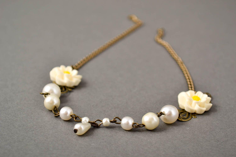 Handmade Polymer Clay Schmuck Armband mit Blumen Frauen Armband zart modisch foto 1
