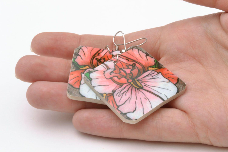 Ohrringe mit Blumen foto 2