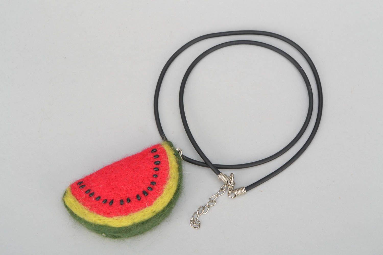 Woolen pendant Water-melon Slice photo 3