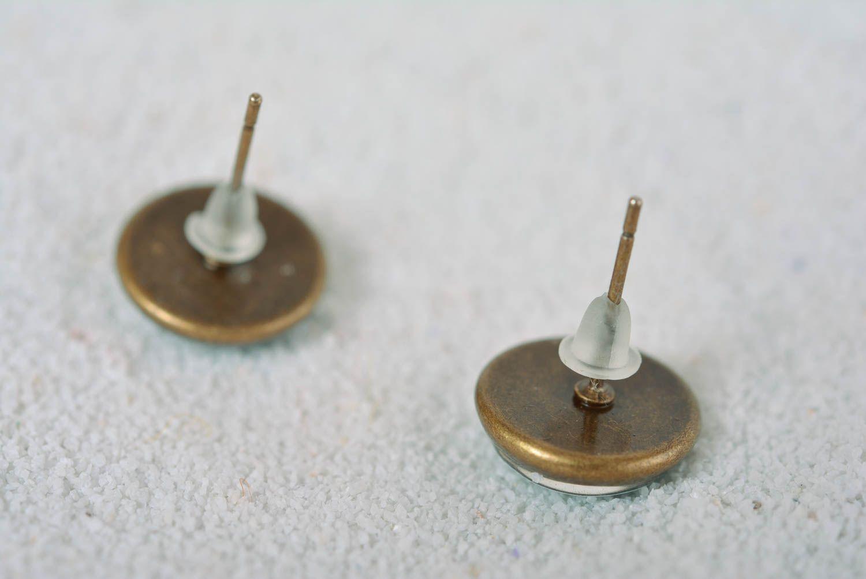 Handmade earrings stud earrings fashion jewelry designer accessories gift ideas photo 4