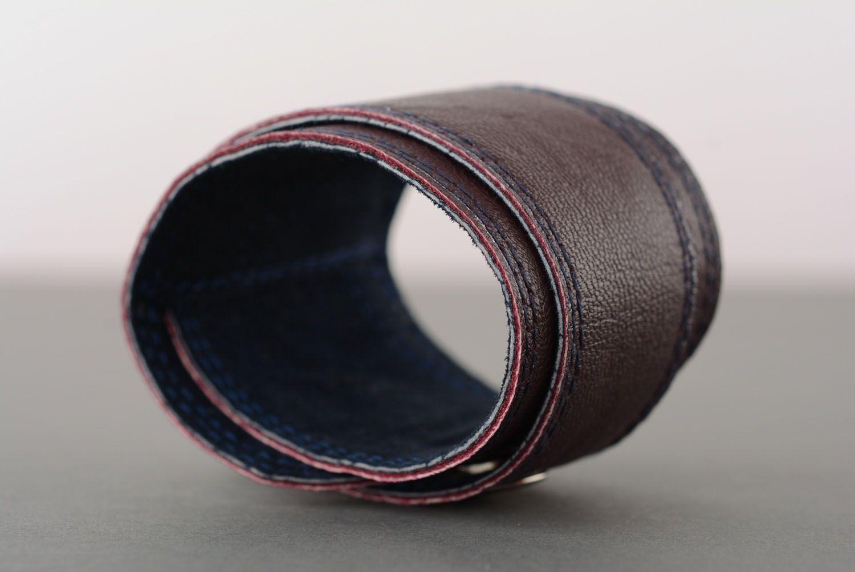 Homemade leather bracelet photo 3
