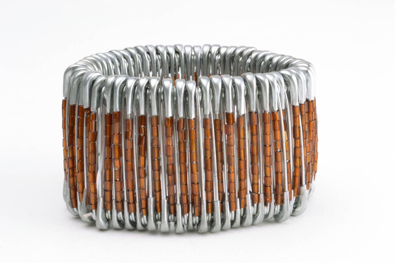 Unusual metal bracelet photo 3