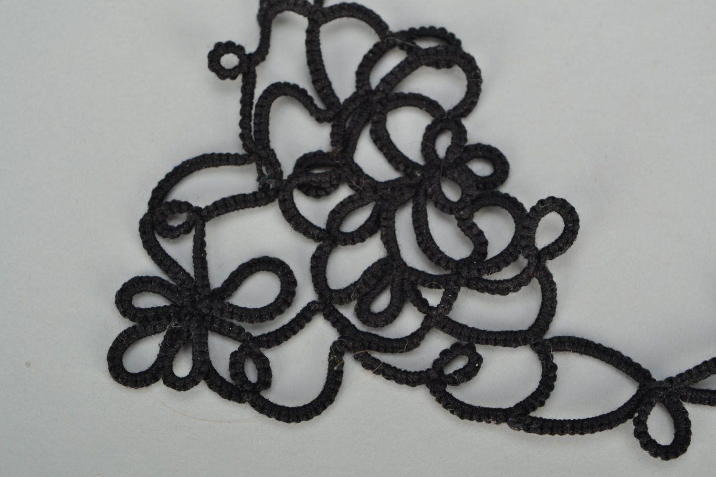 Handmade tatting needle necklace photo 3