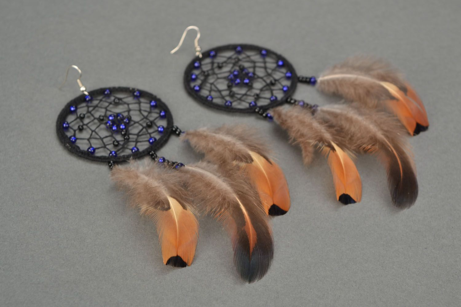 Long earrings Dreamcatcher photo 1