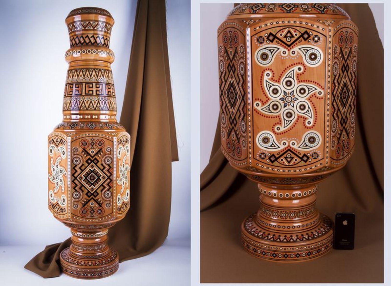 Напольные вазы из дерева своими руками фото