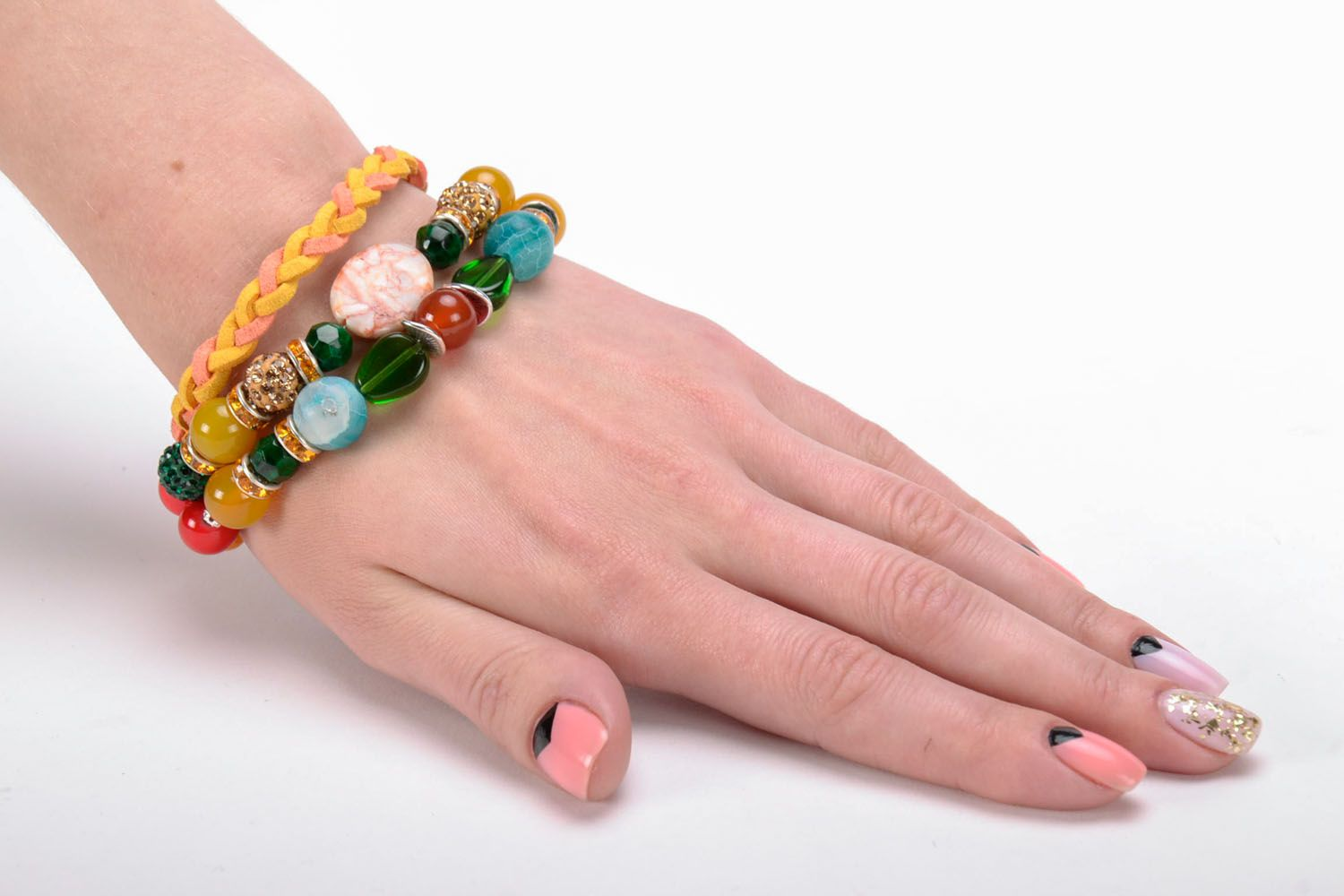 Bracelet made of natural stones photo 5