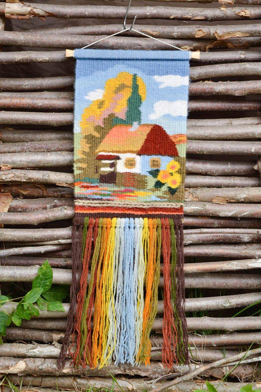 Картина из шерстяных ниток своими руками