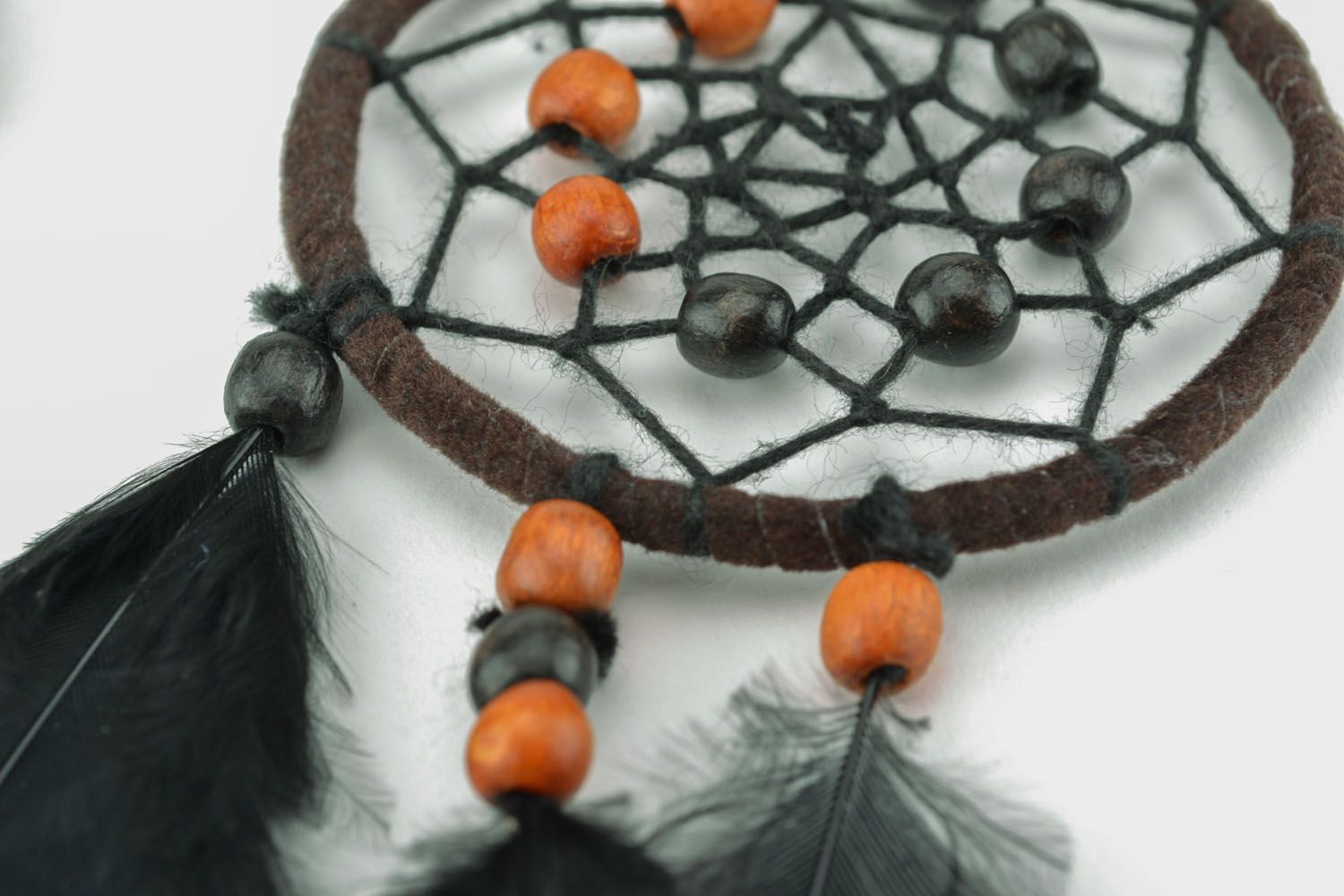 Homemade earrings in the shape of Dreamcatchers photo 3