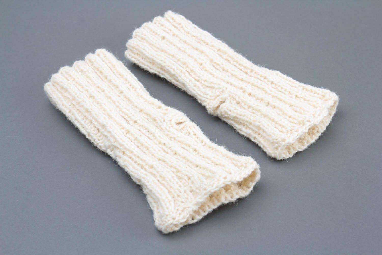 White women's mittens photo 4