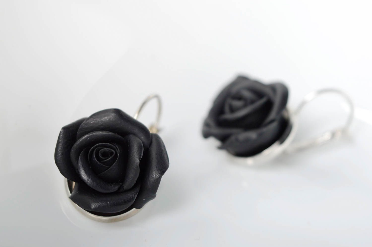 Polymer clay earrings Roses photo 3