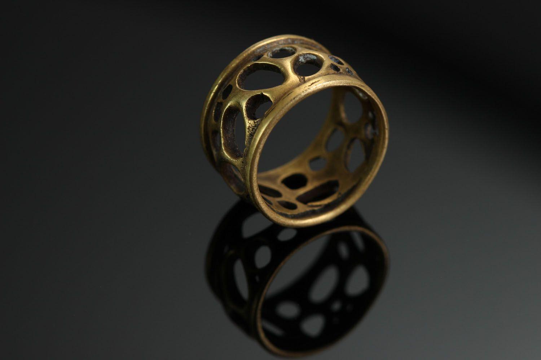 Бронзовое кольцо Сыр фото 2