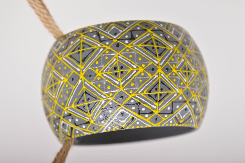 Handmade Holz Armband handgemachter Schmuck Damen Armband im Ethno Stil schön foto 5