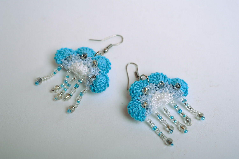 Acrylic earrings Heaven photo 4