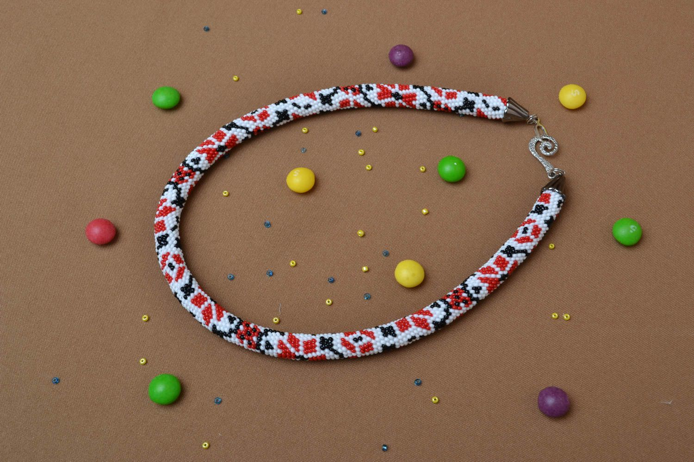 Beaded necklace in Ukrainian style photo 5