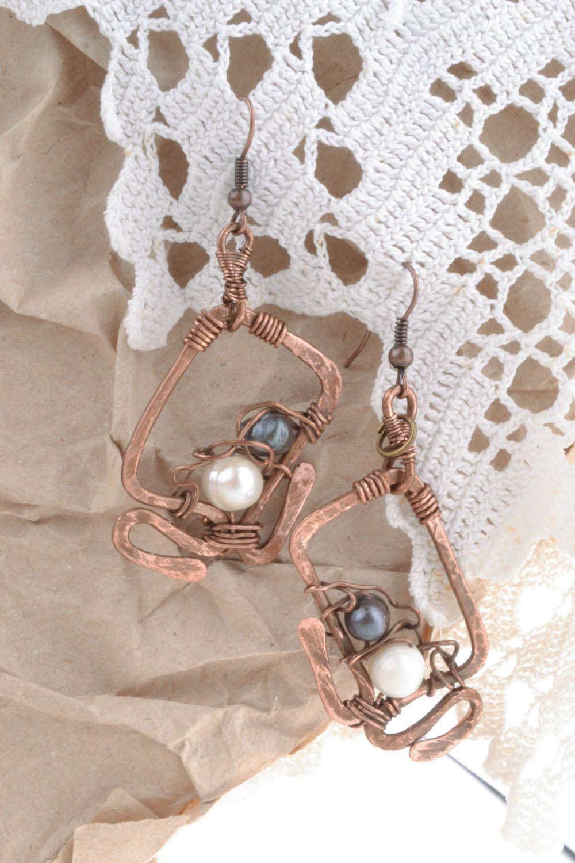 Copper earrings Overseas Dreams photo 5