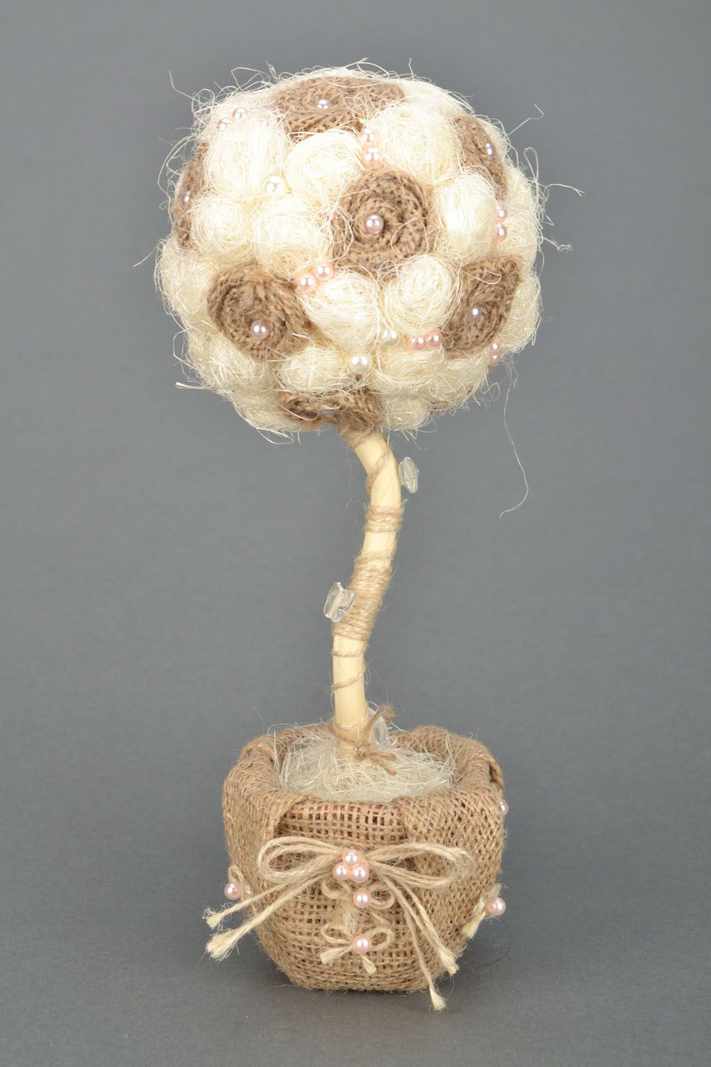 Tree of happiness with beads and sisal photo 5