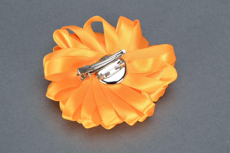 Orange Haarklemme Brosche foto 4