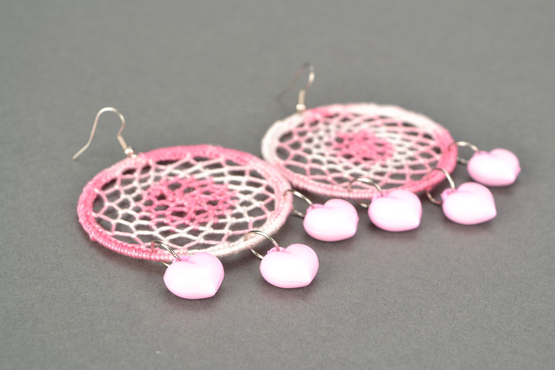 Lace earrings Dream Catcher photo 1