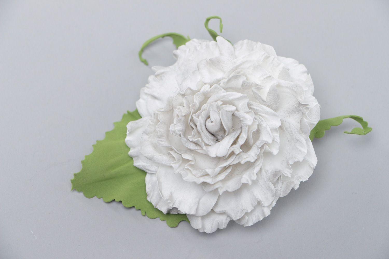 Madeheart Beautiful Handmade Hair Clip Brooch With Volume White