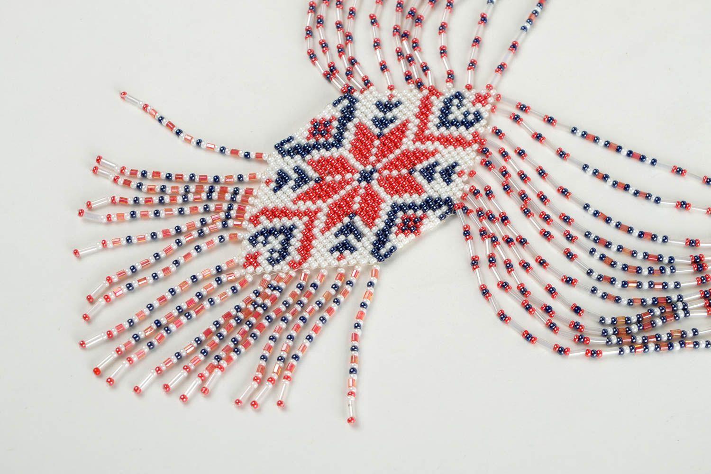 Beaded necklace handmade accessory beaded gerdan designer fashion jewelry photo 4