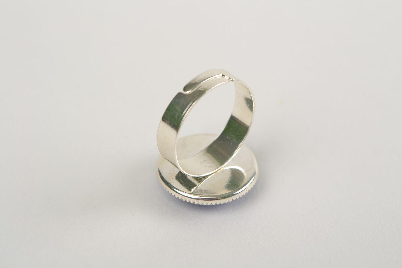 Металлическое кольцо со стеклом ручной работы для знака зодиака Водолей фото 5